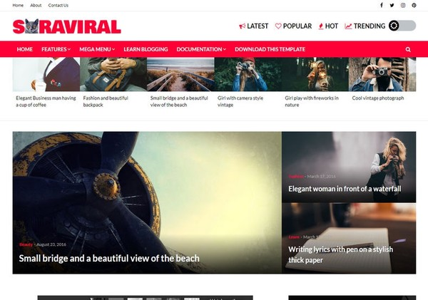 Sora Viral Blogger Template Premium Version