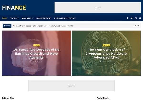Finance Blogger Template Premium Version
