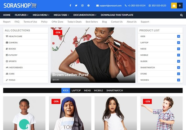 SoraShop Blogger Template Premium Version