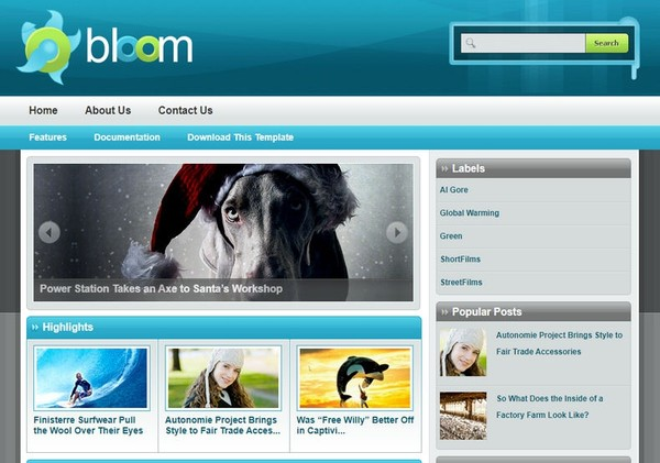 Bloom Blogger Template Extended Version