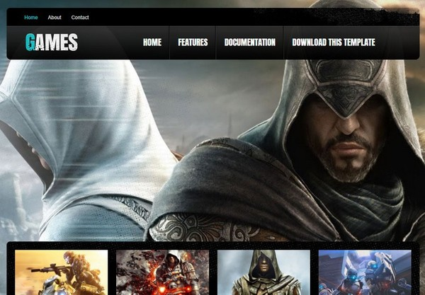 Games Blogger Template Premium Version