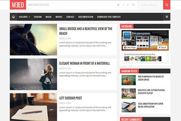 Meed Blogger Template Premium Version
