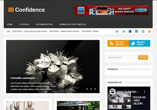 Confidence Blogger Template Premium Version