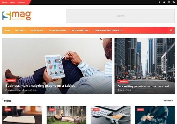 Smag Blogger Template Premium Version