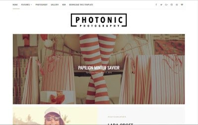 Photonic Blogger Template Premium Version