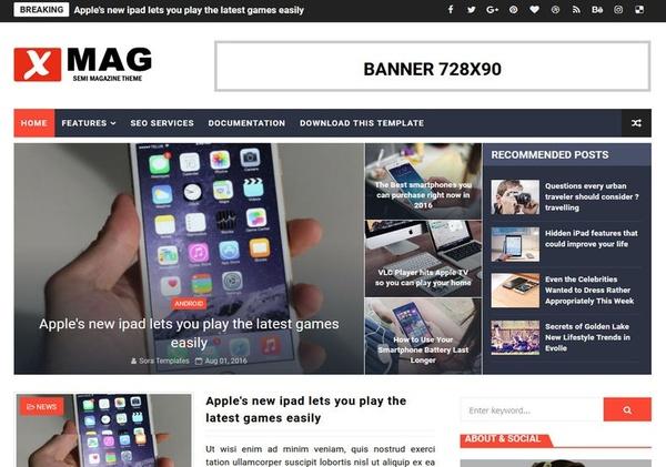 XMag Blogger Template Premium Version