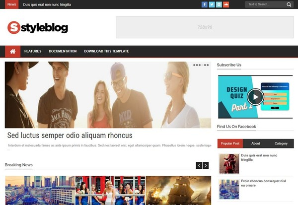Style Blog Blogger Template Premium Version