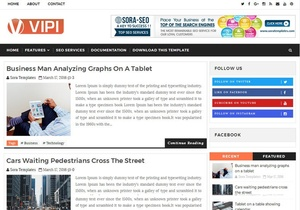 VIPI Blog Blogger Template Premium Version