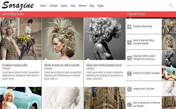 Sorazine Blogger Template Premium Version