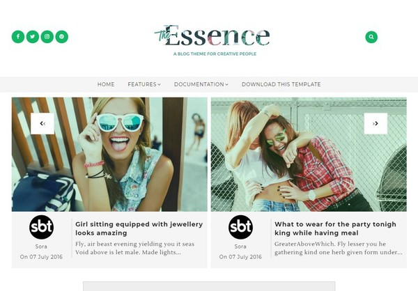 The Essence Blogger Template Premium Version