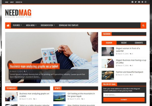 Need Mag Blogger Template Extended Version