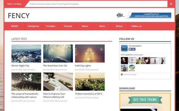 Fency Blogger Template Premium Version