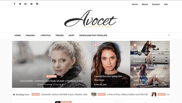 Avocet Blogger Template Premium Version