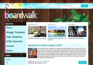 BoardWalk Blogger Template Premium Version