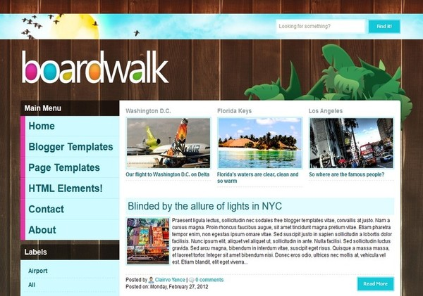 BoardWalk Blogger Template Premium Version