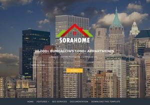 Sora Home Blogger Template Premium Version