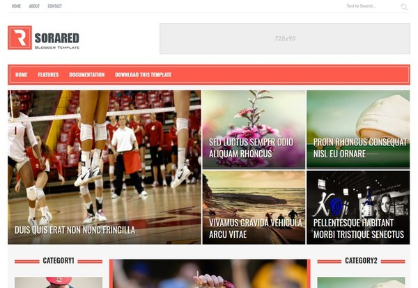 Sora Red Blogger Template Extended Version