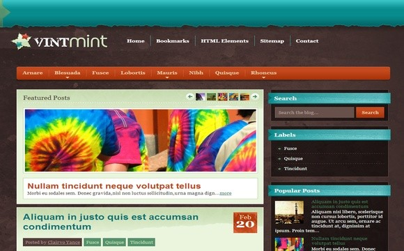 VintMint Blogger Template Premium Version