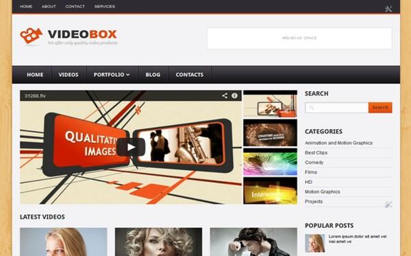 VideoBox Blogger Template Premium Version