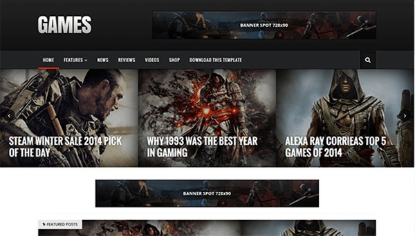 Sora Games Blogger Template Premium Version