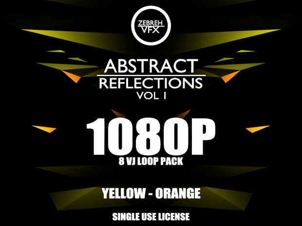 Abstract Reflections Vol 1 VJ Loop Kit l 1080p l Yellow - Orange l Single  Use License
