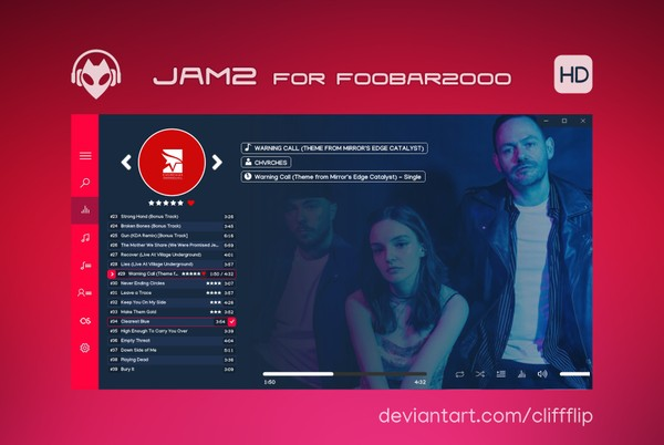 JAM 2 HD for foobar2000 - v2.6.2