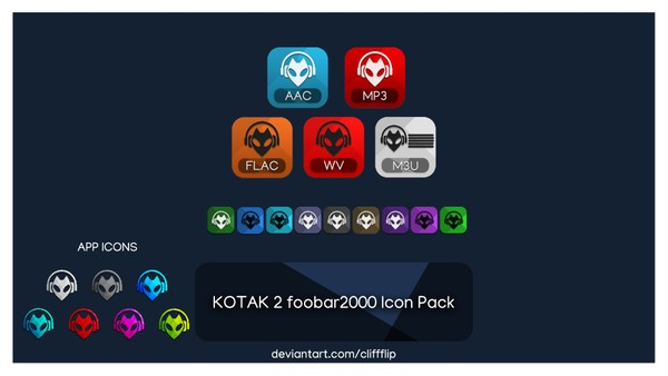 KOTAK 2 - foobar2000 icon pack