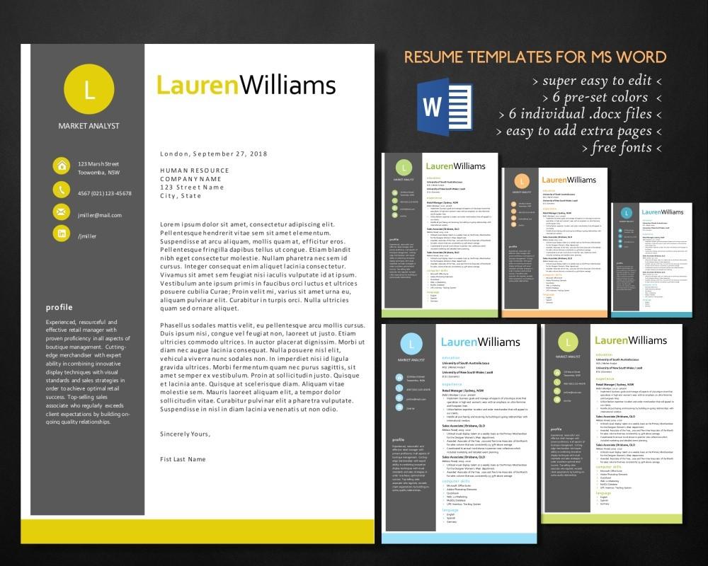 Word Resume Curriculum Vitae Design Resume Design