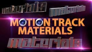 Motion Track Materials (C4D) + Tutorial