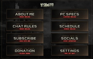 EFT Themed Twitch Panels
