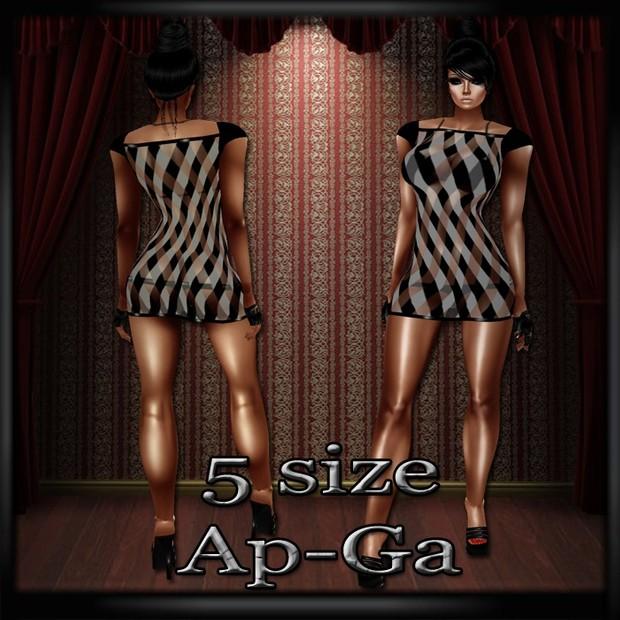 Tartan GA & AP- Version 2- Derive in 5 Sizes- Catty ONLY