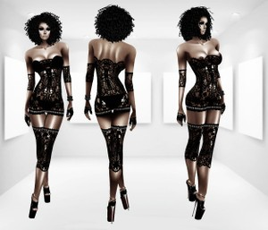 Lace Night AP & GA- Derive in 6 Sizes- Catty ONLY