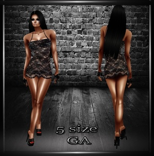 Lace Sort GA Dress- Derive in 5 Sizes- Catty ONLY