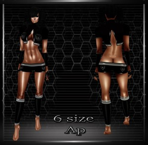 Sporty PVC Outfit AP- Derive in 6 Sizes & 3 Colors- Catty ONLY