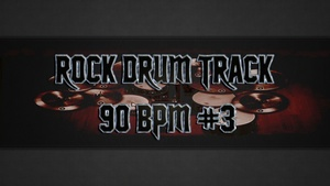 Rock Drum Track 90 BPM #3