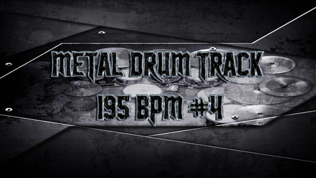 Metal Drum Track 195 BPM #4 - Preset 2.0
