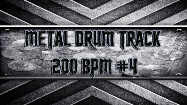 Metal Drum Track 200 BPM #4