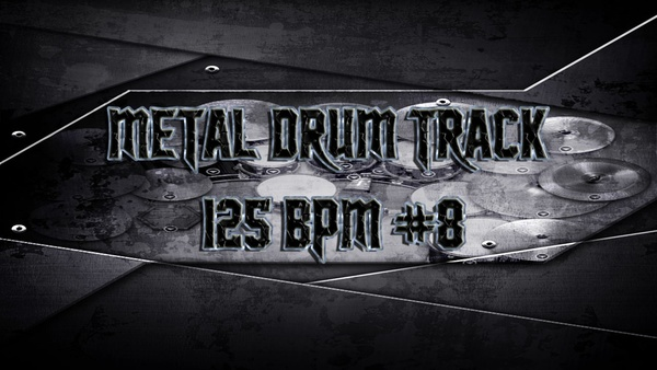 Metal Drum Track 125 BPM #8 - Preset 2.0