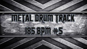 Metal Drum Track 185 BPM #5