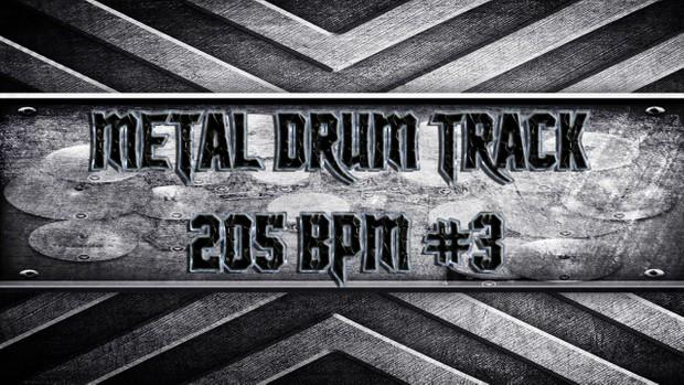 Metal Drum Track 205 BPM #3