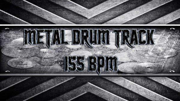 Metal Drum Track 155 BPM