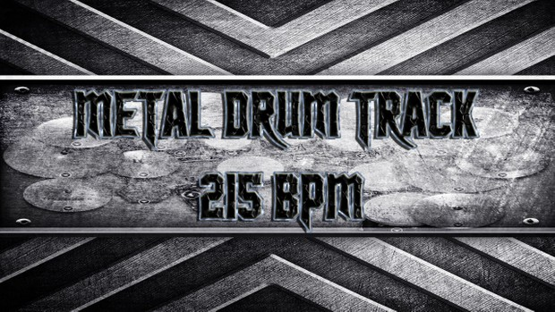 Metal Drum Track 215 BPM