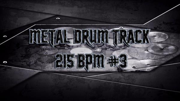 Metal Drum Track 215 BPM #3