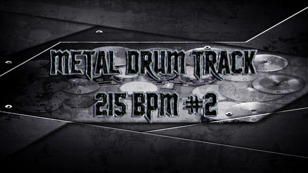 Metal Drum Track 215 BPM #2 - Preset 2.0