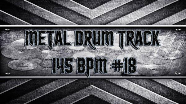Metal Drum Track 145 BPM #18