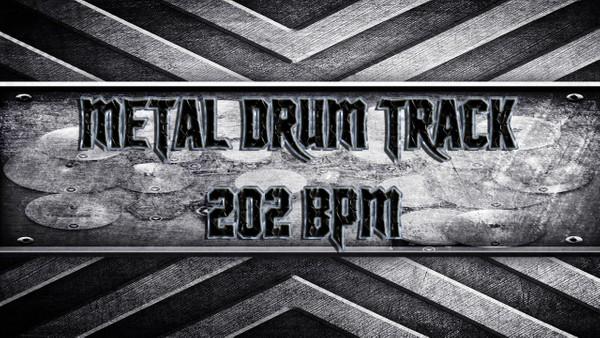 Metal Drum Track 202 BPM