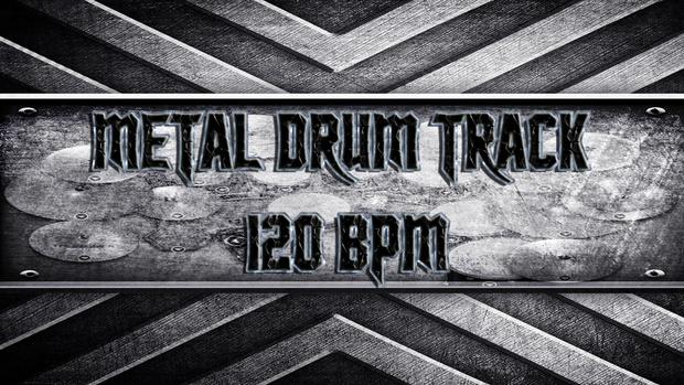 Metal Drum Track 120 BPM