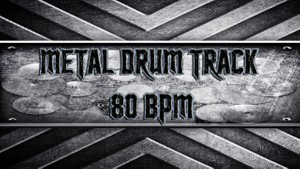 Metal Drum Track 80 BPM