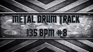 Metal Drum Track 135 BPM #8