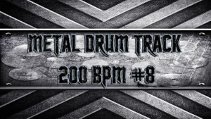 Metal Drum Track 200 BPM #8